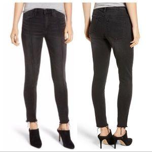 BlankNYC 29 Black Raw Hem Skinny Pintuck Jeans NWT
